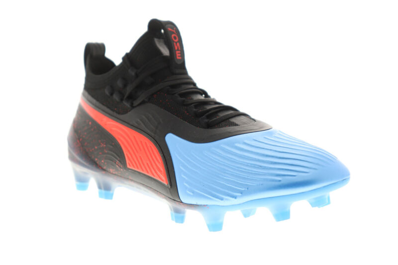 Puma One 19.1 FG AG 10548101 Mens Black Athletic Soccer Cleats Shoes