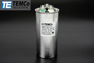 Temco 705 Mfd Uf Dual Run Capacitor 370 440 Vac Volts Ac Motor Hvac 705