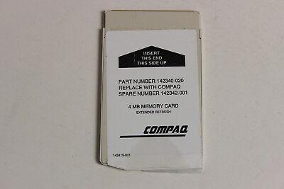 - COMPAQ 142342-001 142340-020 4MB MEMORY CARD LTE LITE 4/25C 4/25E 4/33C