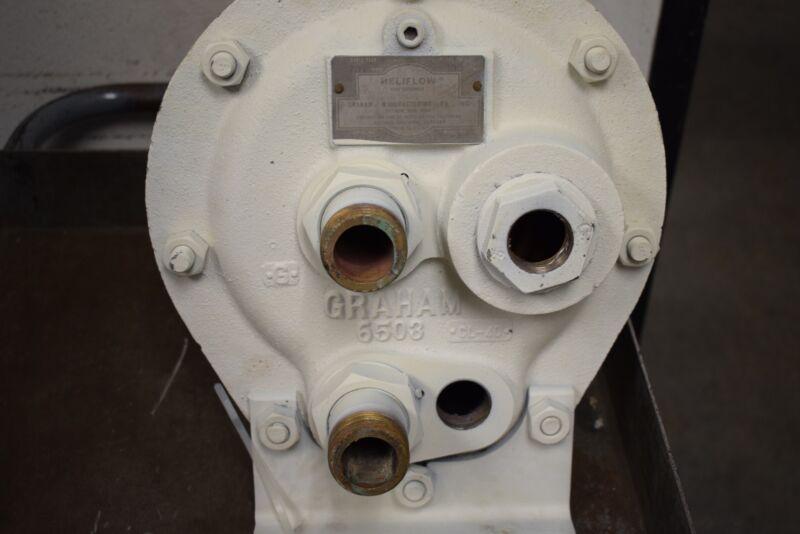 Graham Heliflow Heat Exchanger 8WXF-12B 70 PSI Shell Test 400 PSI Tube Test