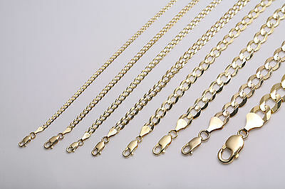 Gold Authentic 10K Solid Gold Mens Women Cuban Link Chain Necklace Sz 16  36