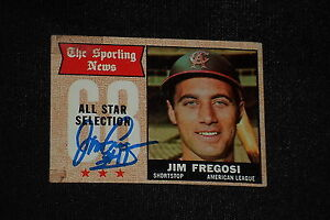 JIM FREGOSI 1968 TOPPS ALL STAR SIGNED AUTOGRAPHED CARD #367