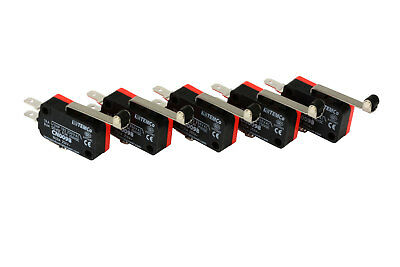 5 Pc Temco Micro Limit Switch Long Roller Lever Arm Spdt Snap Action Home Lot