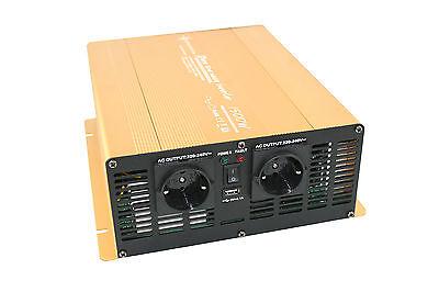 Spannungswandler Wechselrichter 1500 3000 Watt 12V Power USB 2.1A reiner Sinus G