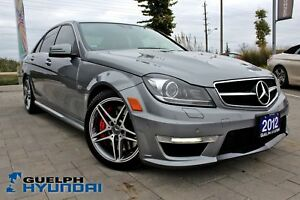 2012 Mercedes-Benz C63 AMG RED LEATHER,NAV,BACKUP CAM&MORE!