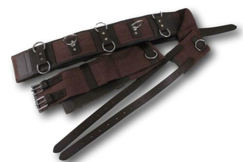 10 Ring Large Professional Leather W/Cotton Web Training Surcingle Horse Tack