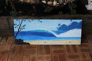 handpainted Seascape  Block mounted High Wycombe Kalamunda Area Preview