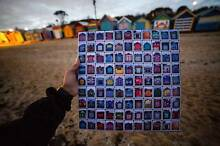 """Take all Brighton bathing boxes home - 16 x 16"""" Canvas with Frame Melbourne CBD Melbourne City Preview"""
