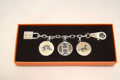 Hermes Breloque Olga Silver Palladium Charm Amulette Cadena Birkin – Never used