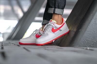 2019 Nike Air Force 1 '07 LV8 SZ 10.5 White Bright Crimson Barely CI0060-102