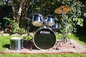 Tama Superstar 5pc Kit - 2007 - Metallic Blue (With Extras!) Marrickville Marrickville Area Preview