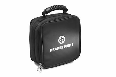 Drakes Pride Quad Bowls Bag Black, Holds 4 Carpet Bowls or 4 Crown Green Jacks