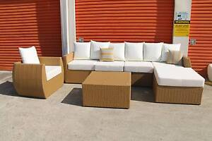 STOCK CLEARANCE!!!! Outdoor Rattan Modular Lounge 7 PC Set Kenmore Brisbane North West Preview
