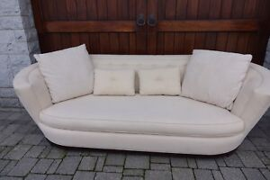 Linen Couch and Chair