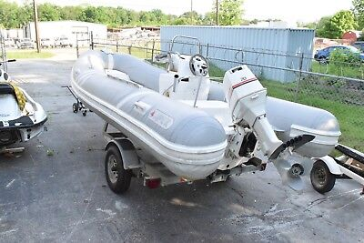 Apex Rigid Hull Inflatable RIB dinghy scuba dive boat tender 17' with Outboard