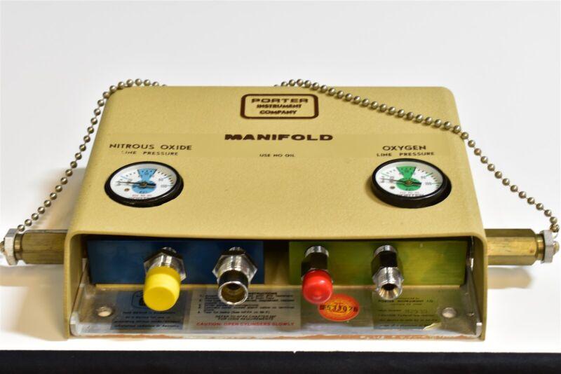 Porter Dental Nitrous N2O Unit For Flowmeter Conscious Patient Sedation