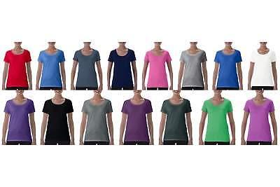 Gildan T-SHIRT DAMEN SHIRT Softstyle® Ladies` Deep Scoop T-Shirt S M L XL 2XL