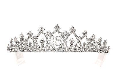 Sweet 16 Birthday Party Princess Rhinestones Crystal Crown Tiara 1159 - Tiara Birthday