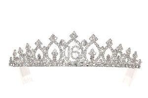 Sweet 16 Birthday Party Princess Rhinestones Crystal Crown Tiara 1159
