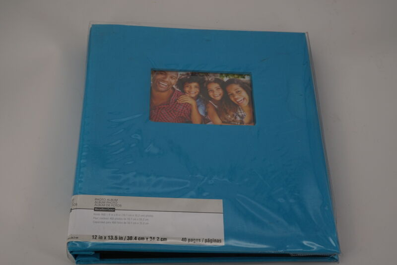 "Recolletions Photo Album, Blue, 12""x13.5"""