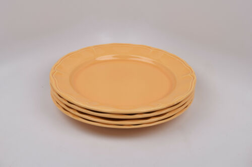 Varages Luberon Yellow France Set of 4 Dinner Plates