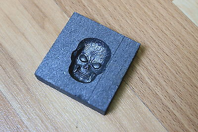 1ozt Celtic Skull Graphite mold for Silver Gold Glass works Ingot casting copper
