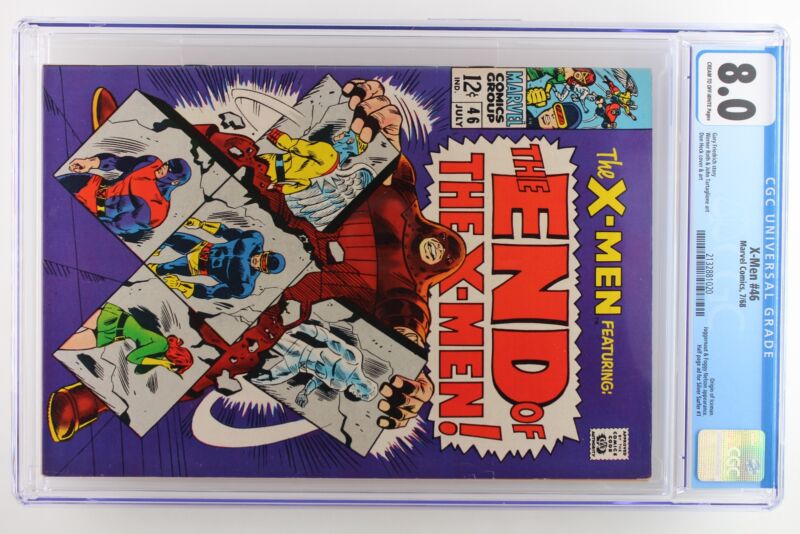 X-Men #46 - Marvel 1968 CGC 8.0 Origin of Iceman. Juggernaut and Foggy Nelson Ap