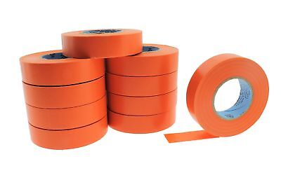10pk 34 .75 Orange Heavy Electrical Tape Wiring Labeling Pvc Vinyl Contractor