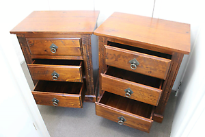 Solid Wood Bedside Tables Balmain Leichhardt Area Preview