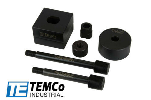 "NEW TEMCo Double D Punch Die Unit Set 0.769"" x 0.642"" Knockout Hole w/ Case"