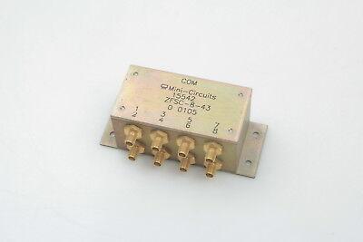 Mini Circuits Zfsc-8-43 8-way Power Splittercombiner Sma 10-1000mhz