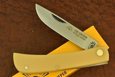 GERMAN EYE BRAND CARL SCHLIEPER YELLOW SODBUSTER KNIFE 99JRY SOLINGEN GERMANY