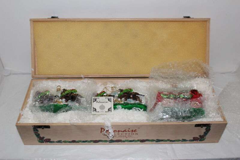 Polonaise Collection Anheuser-Busch Budweiser Clydesdales Christmas Ornaments
