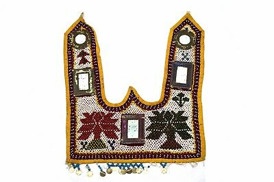 Indian handmade Work Kutch Heavy Beaded Vintage Wall Hanging Décor. i17-345 UK