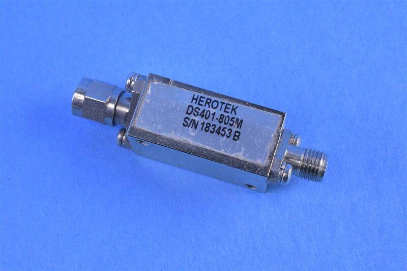 Herotek RF Schottky Diode Radio Frequency Detector Part # DS401-805M