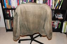 Large Men's Warm Leather Jacket - Green Lyons Woden Valley Preview