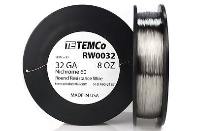 Temco Nichrome 60 Series Wire 32 Gauge 8 Oz 2782 Ftresistance Awg Ga