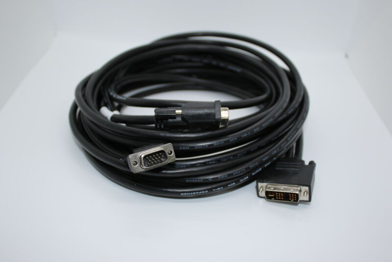 DVI-I to VGA and DVI-I Splitter 25ft