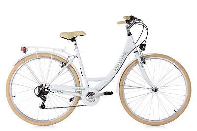 Damenfahrrad Cityrad 28 Zoll Toskana Weiß 6-Gänge RH 48 cm KS Cycling 500C