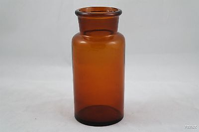 Medium Size Brown Amber Wide Mouth Glass Lab Reagent Bottle
