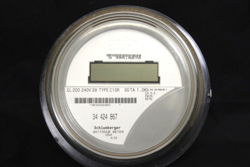 Itron / Centron Watthour Meter MD C1SR CL200 240V 3W FM2S $9.50 Ship $4 for more