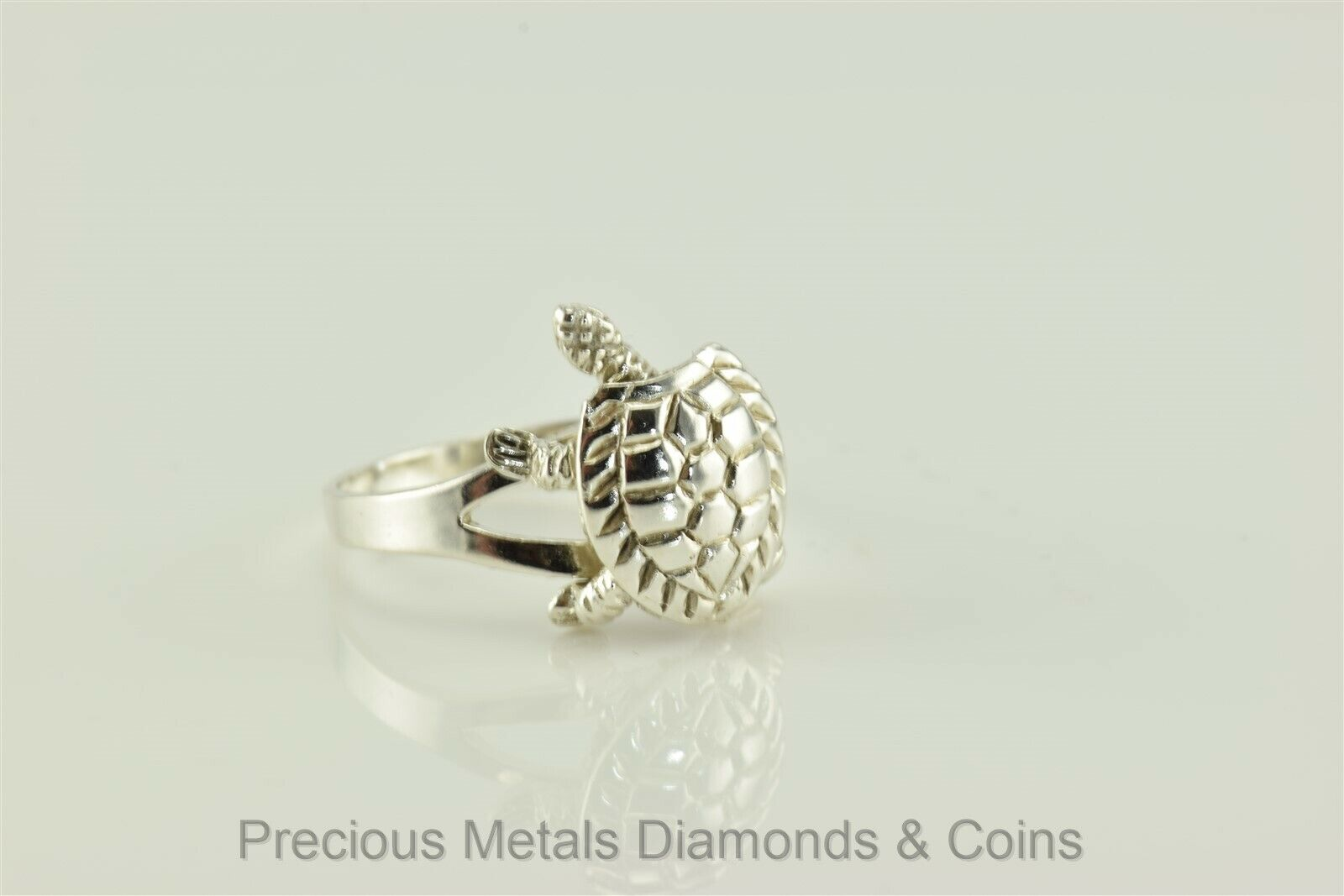 925 Sterling Silver Heavy Turtle Ring Turtle Jewelry Tortoise Beach Ring Movable