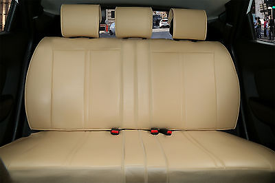 Rear Car Seat Cover PU Leather Cushion compatible to Lincoln 2095 Tan