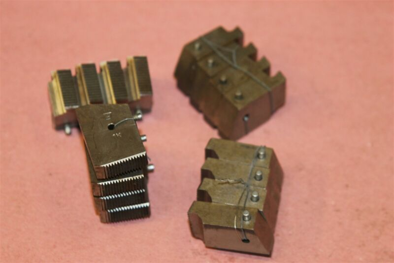 Geometric 1K Thread Cutting Die Head Chaser Sets WITH BOTTOM PIN  7/16-20 1/4NPT