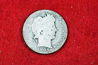ESTATE FIND 1904- Barber Quarter!! #D2928