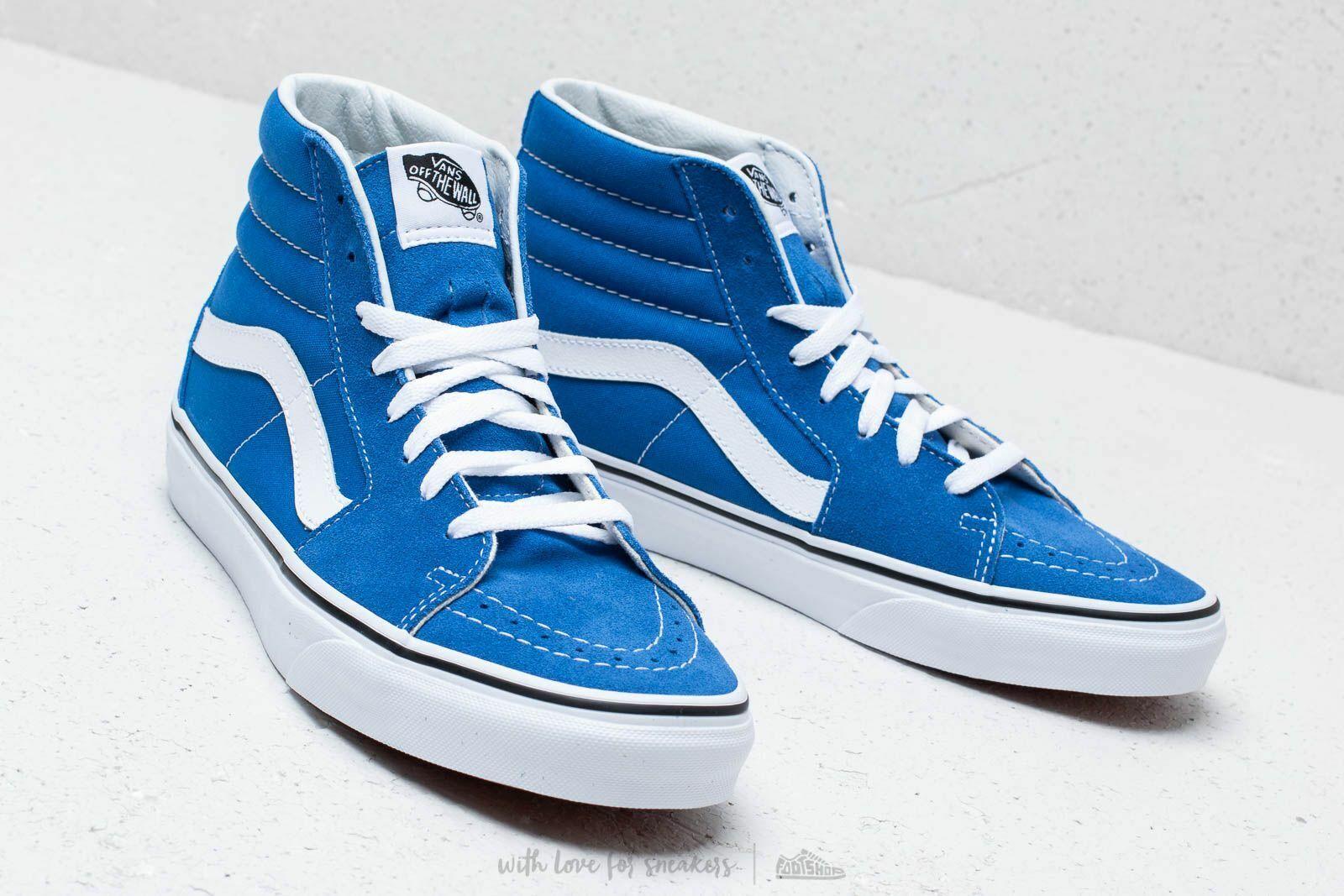 Vans SK8 Hi Lapis Blue/True White Men's Classic Skate Shoes