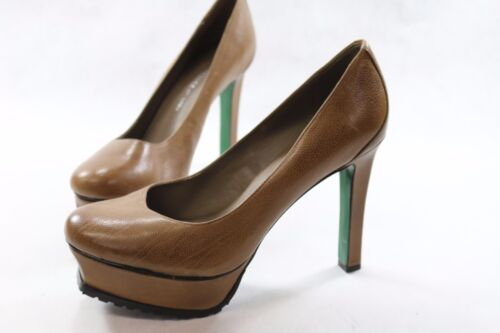 Women's Lisa for Donald Pliner 9.5 M Platform Heels Brown Te