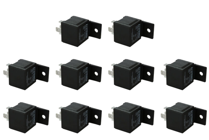 10 LOT TEMCo INDUSTRIAL 12 V 30/40 Amp Bosch Style S Relay SPDT Automotive