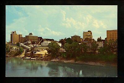 Arkansas AR postcard Little Rock skyline Arkansas River chrome