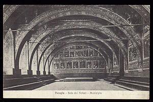 PERUGIA-CARTOLINA-SALA-DEI-NOTARI-MUNICIPIO-FP-OPACA-VG-1926-ETTORE-MIGUINI